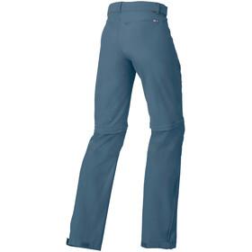 VAUDE Farley Stretch Zip-Off T-Zip Pants Women, blue grey